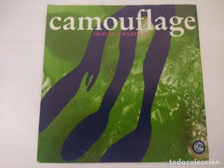 CAMOUFLAGE/HEAVEN I WANT YOU/SINGLE. (Música - Discos de Vinilo - Singles - Pop - Rock Internacional de los 80)
