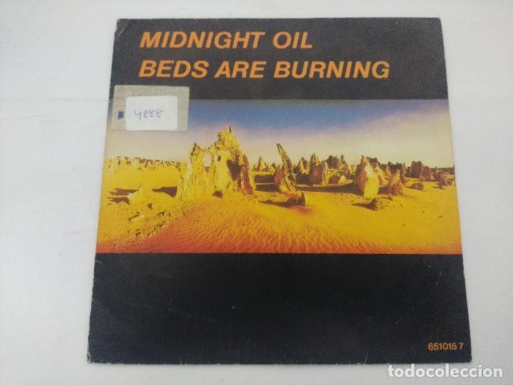 MIDNIGHT OIL/BEDS ARE BURNING/SINGLE PROMOCIONAL. (Música - Discos de Vinilo - Singles - Pop - Rock Internacional de los 80)