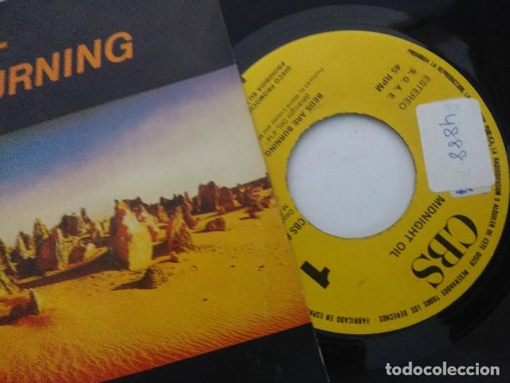 Discos de vinilo: MIDNIGHT OIL/BEDS ARE BURNING/SINGLE PROMOCIONAL. - Foto 2 - 288687333