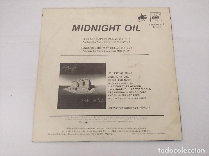 Discos de vinilo: MIDNIGHT OIL/BEDS ARE BURNING/SINGLE PROMOCIONAL. - Foto 3 - 288687333