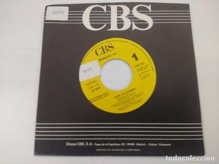 MIDNIGHT OIL/BED ARE BURNING/SINGLE PROMOCIONAL. (Música - Discos de Vinilo - Singles - Pop - Rock Internacional de los 80)