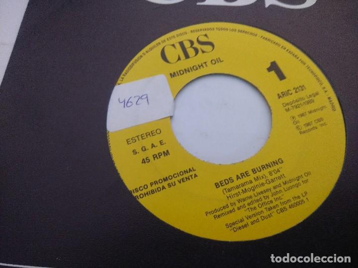 Discos de vinilo: MIDNIGHT OIL/BED ARE BURNING/SINGLE PROMOCIONAL. - Foto 2 - 288688058