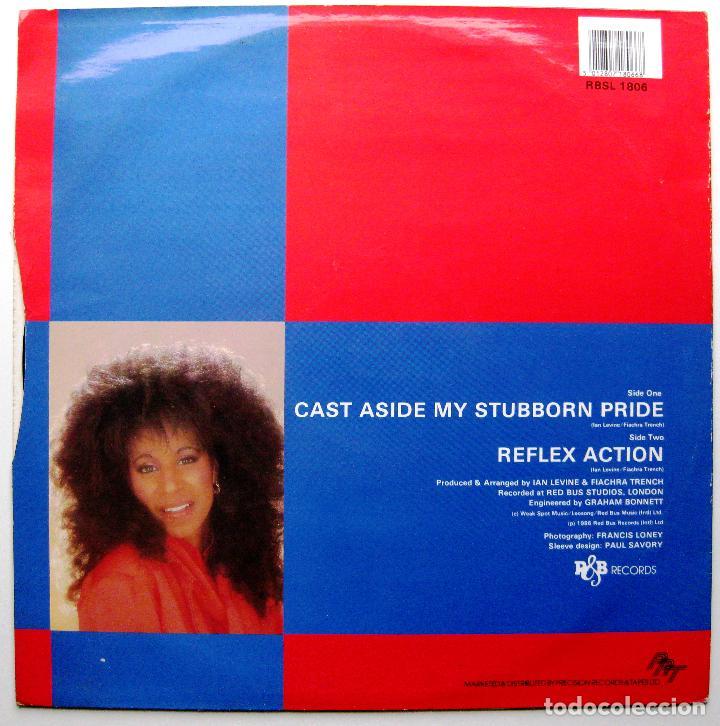 Discos de vinilo: Louise Thomas - Cast Aside My Stubborn Pride / Reflex Action - Maxi R & B Records 1986 UK BPY - Foto 2 - 288691283