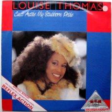 Discos de vinilo: LOUISE THOMAS - CAST ASIDE MY STUBBORN PRIDE / REFLEX ACTION - MAXI R & B RECORDS 1986 UK BPY. Lote 288691283