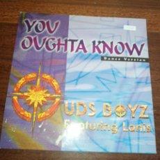 Discos de vinilo: UDS BOYZ FEATURING LANIS-YOU OUGHTA KNOW. MAXI. Lote 288691828