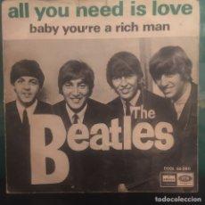 Discos de vinilo: THE BEATLES ALL YOU NEED IS LOVE PORTADA SIN TEXTO. Lote 288694978