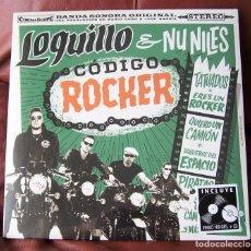 Discos de vinilo: LOQUILLO & NU NILES - CÓDIGO ROCKER LP + CD. Lote 288698523