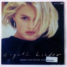 Discos de vinilo: EIGHTH WONDER - WHEN THE PHONE STOPS RINGING / LET ME IN - CBS - 1987 MAXI SINGLE. Lote 288701808