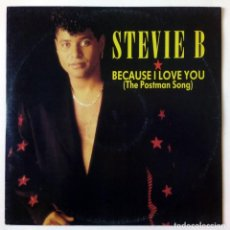 Discos de vinilo: STEVIE B - BECAUSE I LOVE YOU (THE POSTMAN SONG) / WE'RE JAMMIN' NOW - POLYDOR, GERMANY, 1991 MAXI S. Lote 288704968