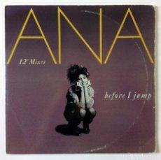Discos de vinilo: ANA - BEFORE I JUMP - MAXI SINGLE - PARC, CBS, 1988 MAXI SINGLE. Lote 288709433