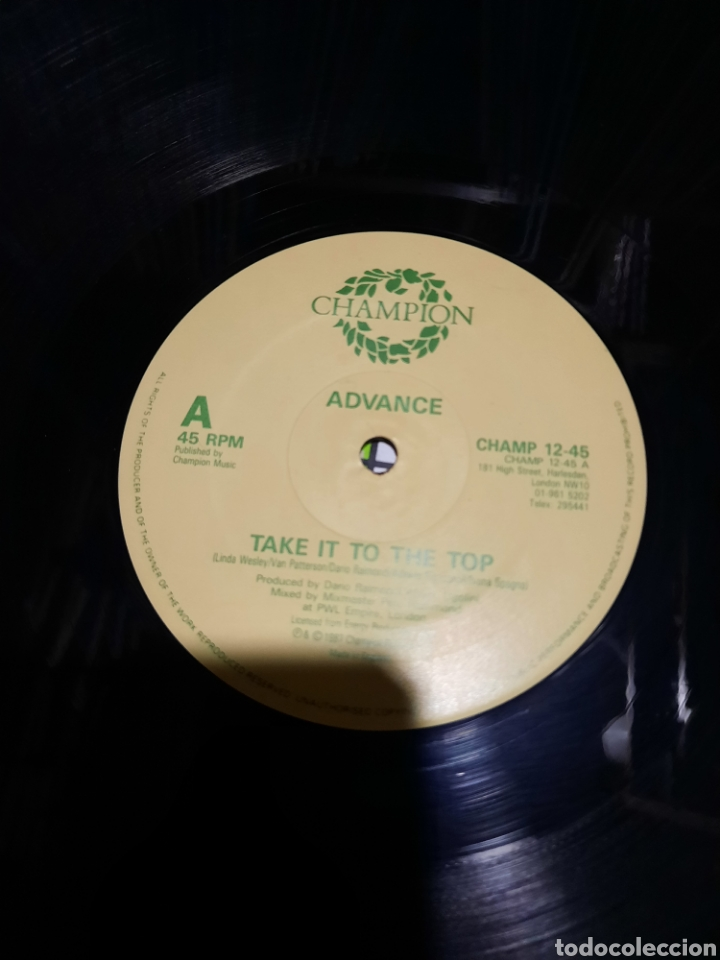 Discos de vinilo: Advance - take it to the top - Foto 2 - 288723538
