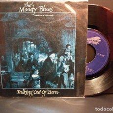 Discos de vinilo: THE MOODY BLUES HABLANDO A DESTIEMPO SINGLE SPAIN 1981 PDELUXE. Lote 288727718