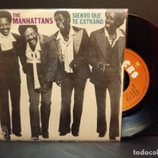 Discos de vinilo: THE MANHATTANS SIENTO QUE TE EXTRAÑO SINGLE SPAIN 1972 PDELUXE. Lote 288727998
