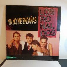 Discos de vinilo: LOS RONALDOS. YA NO ME ENGAÑAS. +3. EMI. 1990. MAXI. 45 R.P.M. ESP.. Lote 288736423