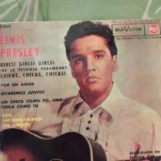 Discos de vinilo: ELVIS PRESLEY. CHICAS, CHICAS, CHICAS. EP.. Lote 288737888