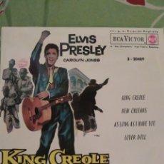Discos de vinilo: ELVIS PRESLEY. KING CREOLE. EP.. Lote 288738563