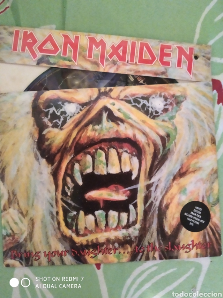 IRON MAIDEN. BRING YOUR DAUGHTER. SINGLE PICTURE. (Música - Discos - Singles Vinilo - Heavy - Metal)