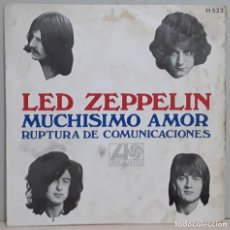 "Discos de vinilo: LED ZEPPELIN - MUCHISIMO AMOR/RUPTURA DE COMUNICACIONES (1969) H 523 (SINGLE VINILO 7"") - USADO. Lote 288742808"