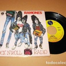 Discos de vinilo: RAMONES - ROCK´N´ROLL RADIO - PROMO SINGLE - 1980 - SPAIN NUEVO. Lote 288744928
