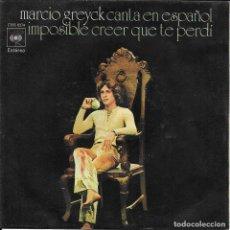 Discos de vinilo: MARCIO GREYCK IMPOSIBLE CREER QUE TE PERDI (EN ESPAÑOL). Lote 288745053