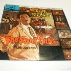Discos de vinilo: SINGLE CLIFF RICHARD THE SHADOWS. THE YOUNG ONES. LOS JÓVENES. EMI 1962 SPAIN (PROBADO, BUEN ESTADO). Lote 288857538