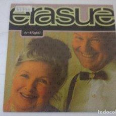Discos de vinilo: ERASURE/AM I RIGHT/SINGLE PROMOCIONAL.. Lote 288863253