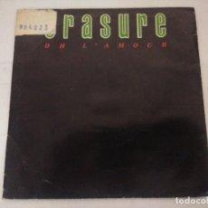 Discos de vinilo: ERASURE/OH L'AMOUR/SINGLE PROMOCIONAL.. Lote 288863873