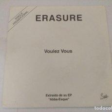 Discos de vinilo: ERASURE/VOULEZ VOUS/SINGLE PROMOCIONAL.. Lote 288865353