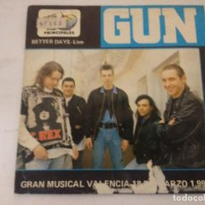 Discos de vinilo: GUN/BETTER DAYS LIVE/SINGLE.. Lote 288866868