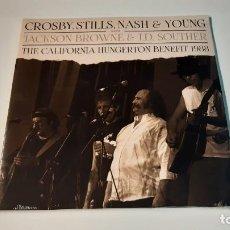 Discos de vinilo: 0921-CROSBY,STILLS,NASH&YOUNG-THE CALIFORNIA HUNGERTON BENEFIT 1988// 2 LP ALBUM, LTD, RED-VINYL NEW. Lote 288870123