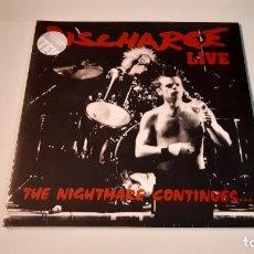 Discos de vinilo: 0921- DISCHARGE - THE NIGHTMARE CONTINUES... LIVE-LP, ALBUM, LTD, RE, CLE-VINILO NUEVO PRECINTADO. Lote 288877258