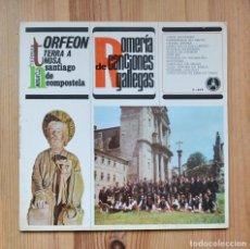 Discos de vinilo: ORFEÓN TERRA A NOSA ROMERÍA DE CANCIONES GALLEGAS 1970 PAX VINILO LP MUSICA CELTA GALEGA. Lote 288887668