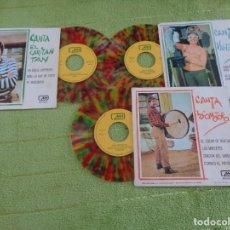 Discos de vinilo: LOTE CHIRIPITIFLAUTICOS SGS MH 1970 - VALENTINA + CAPITAN TAN + LOCOMOTORO - VINILO MULTICOLOR. Lote 288888288