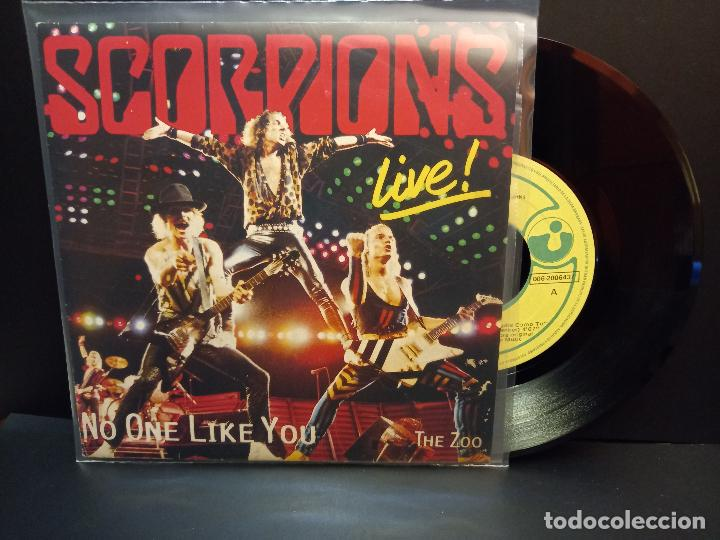 SCORPIONS NO ONE LIKE YOU / THE ZOO SINGLE SPAIN 1985 PDELUXE (Música - Discos - Singles Vinilo - Heavy - Metal)