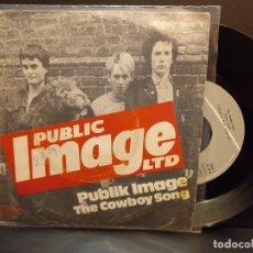 Discos de vinilo: PUBLIC IMAGE LTD PUBLIC IMAGE / THE COWBOY SO.. SINGLE SPAIN 1978 PDELUXE. Lote 288895393