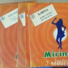 Discos de vinilo: MIRINDA Y MUSICA. 8 DISCOS. KARINA, LOS PEKENIKES, ALBERTO CORTEZ, LOS PAYOS, MIGUEL RIOS, LOS PASOS. Lote 288907518