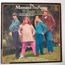 Discos de vinilo: THE MAMAS AND THE PAPAS- 20 GREATEST HITS- UK LP 1980.. Lote 288910223