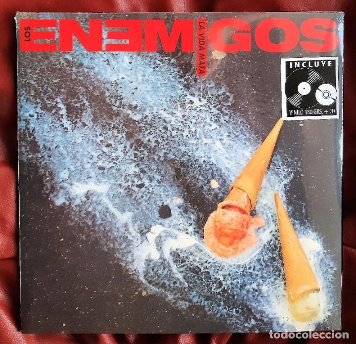 LOS ENEMIGOS - LA VIDA MATA LP + CD (Música - Discos - LP Vinilo - Grupos Españoles de los 90 a la actualidad)