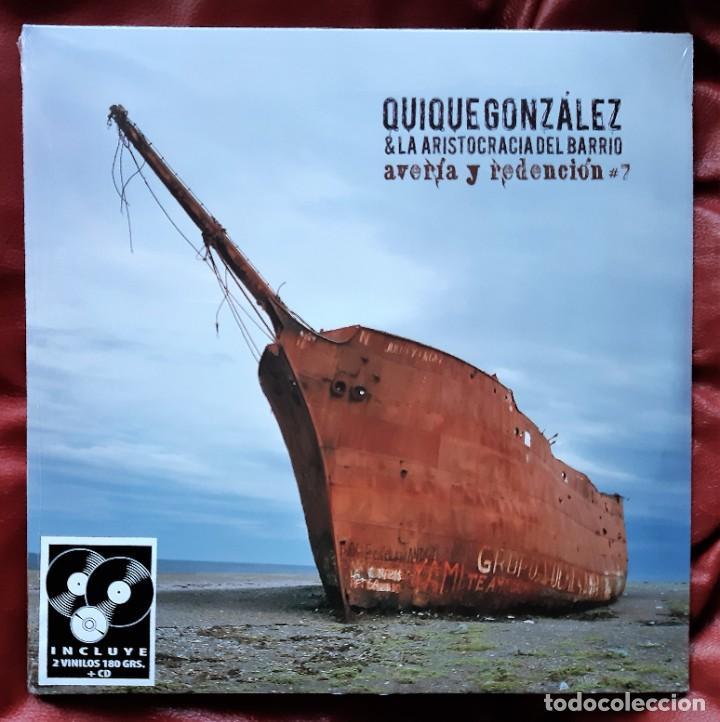 QUIQUE GONZÁLEZ Y LA ARISTOCRACIA DEL BARRIO - AVERÍA Y REDENCIÓN 2XLP + CD (Música - Discos - LP Vinilo - Grupos Españoles de los 90 a la actualidad)
