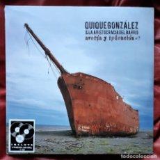 Discos de vinilo: QUIQUE GONZÁLEZ Y LA ARISTOCRACIA DEL BARRIO - AVERÍA Y REDENCIÓN 2XLP + CD. Lote 288918143
