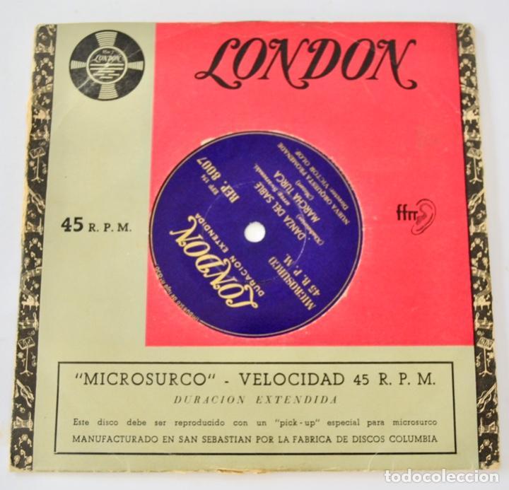 NUEVA ORQUESTA PROMENADE. DIRECTOR, VICTOR OLOF. DANZA SABLE, MARCHA TURCA Y HÚNGARA. SELLO LONDON (Música - Discos de Vinilo - EPs - Clásica, Ópera, Zarzuela y Marchas)