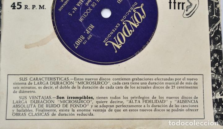 Discos de vinilo: Nueva Orquesta Promenade. Director, Victor Olof. Danza Sable, Marcha Turca y Húngara. Sello London - Foto 3 - 288920858