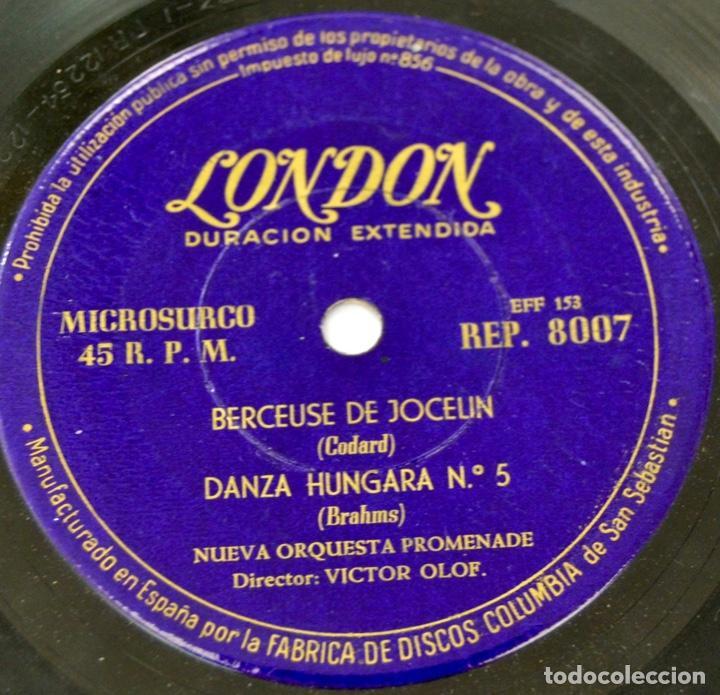 Discos de vinilo: Nueva Orquesta Promenade. Director, Victor Olof. Danza Sable, Marcha Turca y Húngara. Sello London - Foto 6 - 288920858