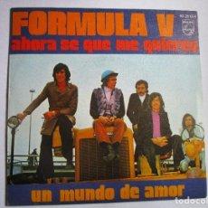 Discos de vinilo: FORMULA V AHORA SE QUE ME QUIERES. Lote 288920988