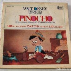Discos de vinilo: E.P.: DISCOLIBRO WALT DISNEY PRESENTA EL CUENTO DE PINOCHO CON LAS CANCIONES DE LA PELÍCULA. Lote 288932093