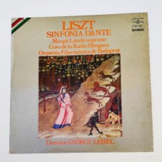 Discos de vinilo: LP LISZT SINFONÍA DANTE, M. LÁSZLÓ, G. LEHEL, FILARMÓNICA DE BUDAPEST - HUNGAROTON HISPAVOX 1975. Lote 288950858