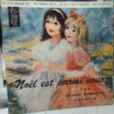Discos de vinilo: THE HARRY SIMEONE CHORAL. LITTLE DRUMMER BOY. EP. EDICION FRANCESA. Lote 288953868