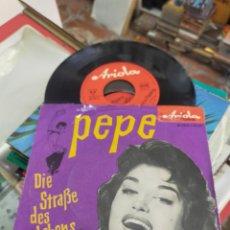 Discos de vinilo: DALIDA SINGLE DIE STRABE DES LEBENS / PEPE CANTANDO EN ALEMAN. Lote 288955343