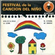 Discos de vinilo: FESTIVAL DE LA CANCION DEL NIÑO Nº 4 / AZUL ES EL CIELO + 3 (EP ALTOMID 1979). Lote 288964778