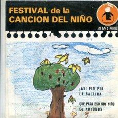 Discos de vinilo: FESTIVAL DE LA CANCION DEL NIÑO Nº 7 / LA GALLINA + 3 (EP ALTOMID 1979). Lote 288965008